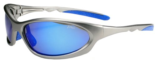Polarized Active Wear Sunglasses P13 (Gunmetal Grey & Blue Mirror) ()