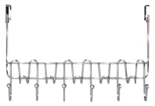 DecoBros Supreme Over The Door 11 Hook Organizer Rack