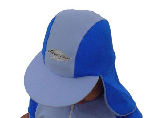 Stingray Australia Baby UV Sun Protection Flap Hat- Blue - Rays Australia