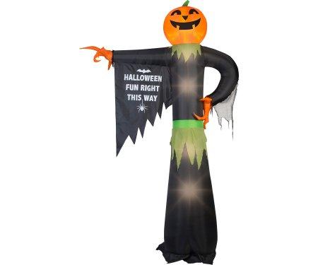 Gemmy Industries G08 71493X Lighted Airblown Pointing Pumpkin with Halloween Sign -