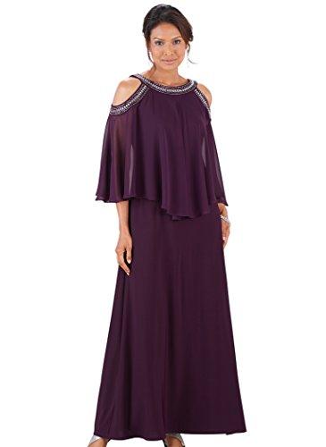amp AmeriMark Cold Dress R Beaded M Shoulder Plum Richards 74q546w
