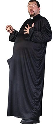 Spook Shop Men's Big and Tall Keep Up The Faith Costume (Keep Up The Faith Priest Costume)