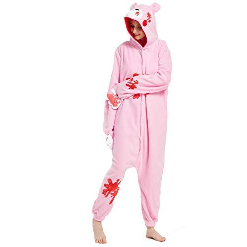 Unisex Adult Pajamas Halloween Animal Costume Cosplay Pjs Gloomy Bear -