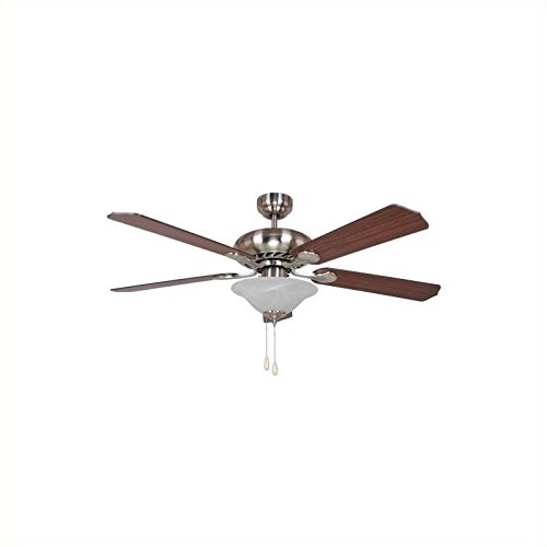 Yosemite Home Décor WHITNEY-BBN-1 Whitney Collection 52'' Indoor Ceiling Fan, Brushed Nickel by Yosemite Home Decor