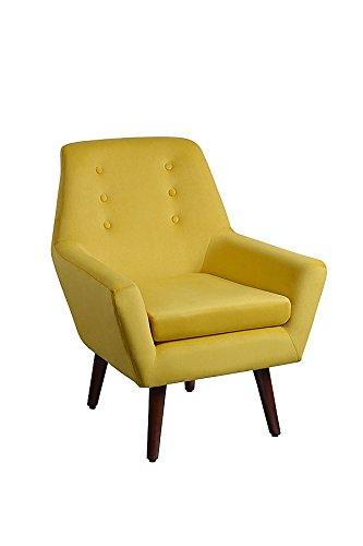My-Furniture Inglés Mostaza Sillón tapizado Retro con Patas ...