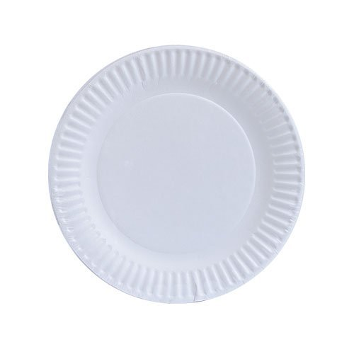 Nicole Home Collection 100 Count Everyday Dinnerware Paper Plate, 6-Inch, White