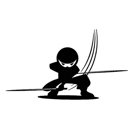 Personalized car stickers 16.4 X 9.5CM Cool Japanese Ninja ...