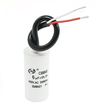 6uF 450 VAC metalizado polipropileno película condensador para ...