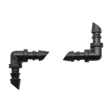 Diameter: 1//4inch, Color: Black Kamas 50 Pcs Hose Elbow Water Hose Connectors 1//4inch Bending Joints Garden Pipe Connectors Drip Irrigation Connect 4mm 7mm Hose