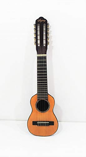 10 String Acoustic Round Back Guitar, All Nylon Strings W/a Bag