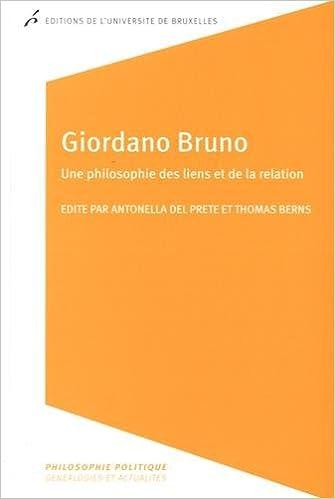 Livre Giordano Bruno : Une philosophie des liens et de la relation pdf epub