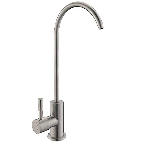Ufaucet Modern Best Stainless Steel Brushed Nickel Kitchen Bar Sink Drinking Water Purifier Faucet, Commercial Water Filtration Faucet