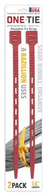 Cable Tie Red 14 2pk TAILOR MADE PRODUCTS INC