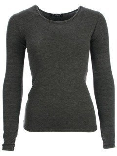 NEW WOMENS LADIES PLAIN LONG SLEEVE TOPS T-SHIRT ALL COLOURS SIZE ...