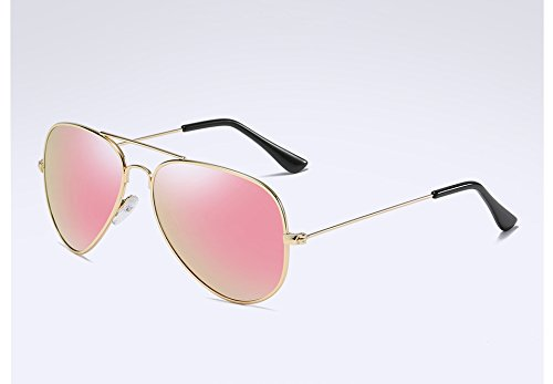 Hommes Polarisée Soleil Retour gold pink UV400 Lunettes de Lunettes dans Lunettes Sunglasses l'alliage TL Guide pxq1wfn4f