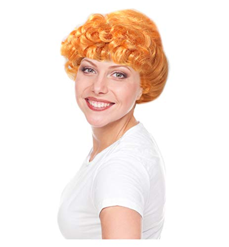 Wilma Wig Wilma Costume Wig Wilma Orange Bun Wig for Women]()