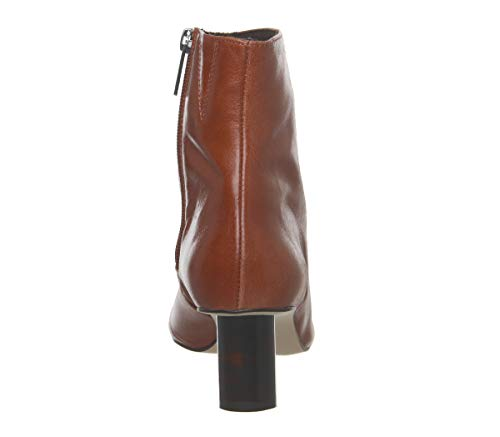 Heel Leather Cylindrical Tan Tortoiseshell Office Afflict Boots 6xTqPKBR