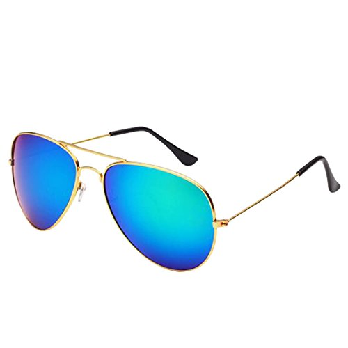 Desen Unisex Adult Aviator Sunglasses (Gold - Aviator Cheap