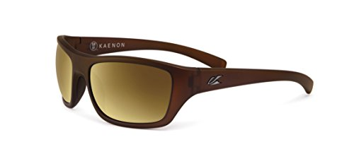 Polarized Gold Mirror - Kaenon Kanvas Gold Coast - Brown 12 Polarized Gold Mirror Sunglasses