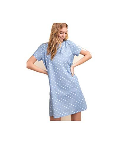 Boutique 9 Women's Polka Dot Chambray 100% Cotton Pocket Front Dress (Small)