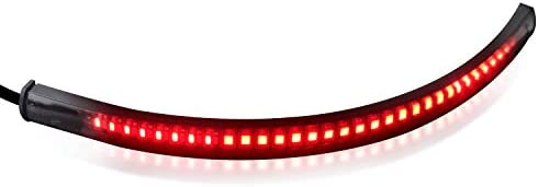 NTHREEAUTO Universal LED Tail Light Strip with Brake Rear Turn Signal Lights Compatible with Harley Kawasaki Suzuki Yamaha Taillight