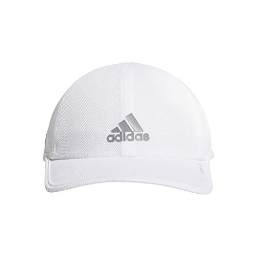 adidas Men's Superlite Pro Relaxed Adjustable Performance Cap, White/Grey, One - Tennis Adidas Pro