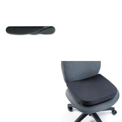 Wrist Pillow Foam Keyboard (KITKMW22801KMW82024 - Value Kit - Kensington Memory Foam Seat Rest (KMW82024) and Kensington Wrist Pillow Foam Keyboard Wrist Rest (KMW22801))