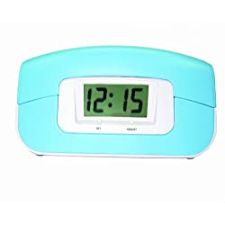 Sylvania Alarm Clock Phone with Blue Rubberized Finish (ST884-Blue)