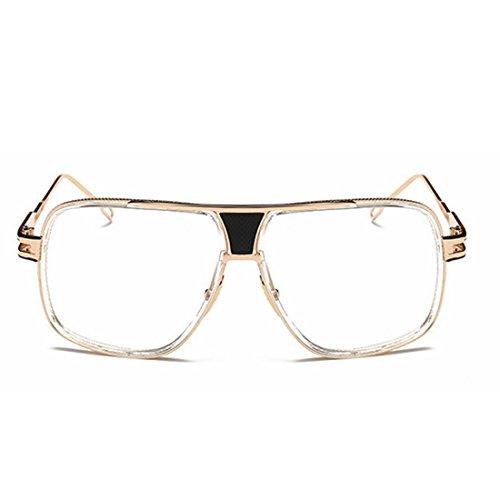 Polarized Mirror Frame Gold Lunettes Femmes Hommes Soleil 400 UV Protection Color pour Lens Sakuldes Clear De Metal Gold Aviator aRx1w1