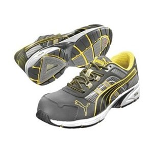 Athletic Work Shoes, Comp, Mn, 8, Gry, 1PR