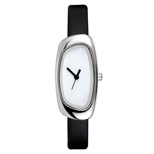 iBaste_S Innovative Quartz Watch Fashionable Preppy Style Stainless Steel Bottom Cover IPG Plated Case Leather Straps
