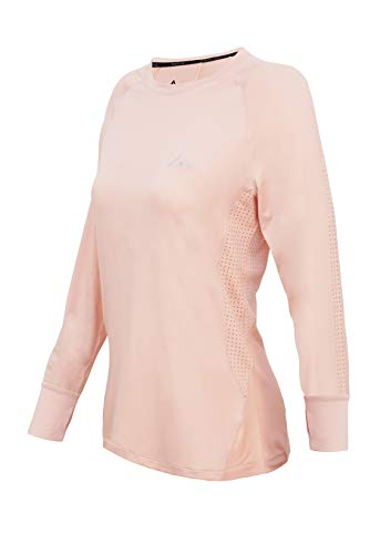 Turaag Long Sleeve T-Shirt for Women Quick Dry Moisture Wicking Training & Gym Cameo Rose ()