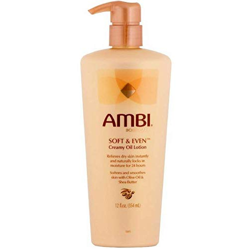 - Ambi Soft & Even Creamy Oil Lotion 12 Ounce Pump (354ml) (6 Pack)