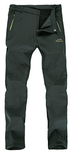 Singbring Men's Outdoor Waterproof Hiking Mountain Pants Medium Army Green(026)