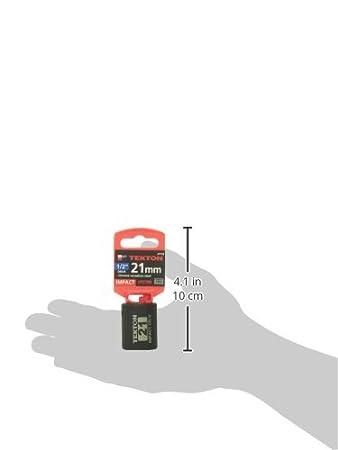 6-Point TEKTON 47759 1//2-Inch Drive by 1-Inch Shallow Impact Socket Cr-V