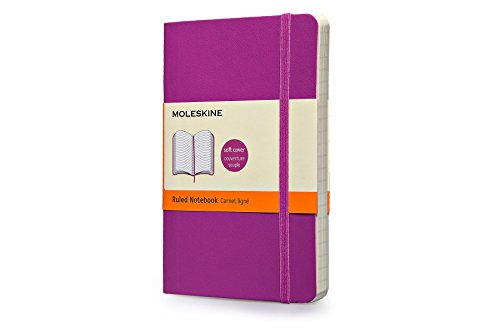 """Moleskine Classic Notebook, Soft Cover, Pocket (3.5"""" x 5.5"""") Ruled/Lined, Orchid Purple"""