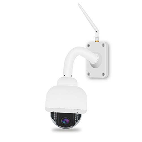 Outdoor PTZ WiFi Security Camera, 4X Optical Zoom Wireless IP