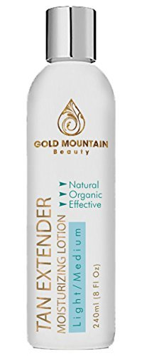 Self Tanner Tanning Lotion - Organic and Natural Ingredients. Extend Sunless Tan while Moisturizing Skin. Buildable Golden Bronzer for a desired Light, Medium, or Dark Natural Looking Streak Free Tan,Package may vary