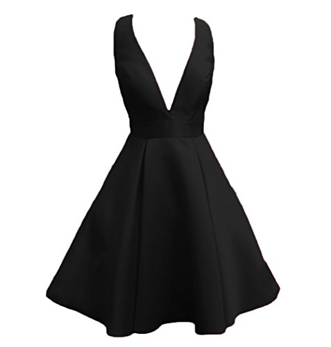 Prom Short V Juniors Dreagel Neck Dresses Homecoming Sexy A Black Deep Gowns line Party xvEE6pIq
