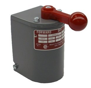- 1.5 hp - 2 hp Electric Motor Reversing Drum Switch - Position = Maintained # RS-1