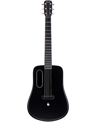Acoustic Electric Guitar, Top Traveler Guitar Play with effects without plugging in a heavy amplifier By LAVA ME 2 (Freeboost-Black)