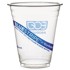 Bluestripe Recycled Content Cold Drink Cups, 16 Oz, 50/Pack ECOEPCR16PK