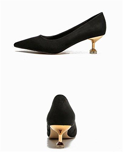 Ruanlei confortevole Scarpe luce black bassa Tacco Lavoro Heels for e Lavoro Medio con e donna High casual Scarpe Wedding ScarpeElegante calzature con Eleganti versatile rqWfgnUrw