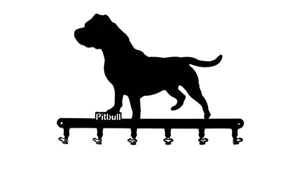 Amazon key holder hook pitbull dog beautiful key hook amazon key holder hook pitbull dog beautiful key hook for wall 6 hooks metal steel black office products m4hsunfo Image collections