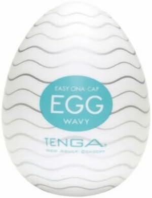 TENGA EGG Wavy Einweg-Masturbationshilfe für Männer - eine Einheit, diskret, aus weichem Material