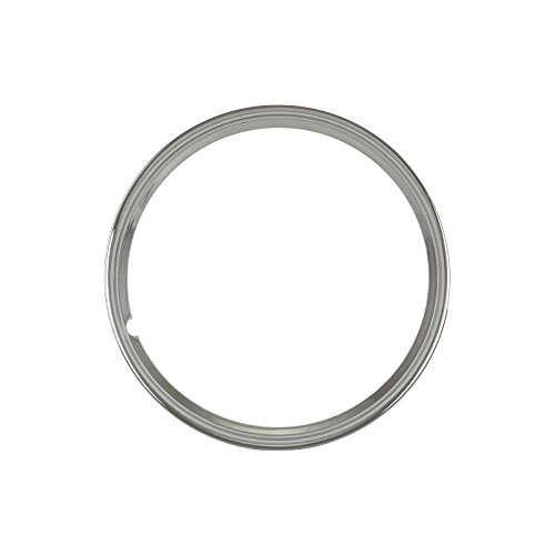 MACs Auto Parts 32-17102 Wheel Trim Ring - Smooth Stainless Steel - 15 - Ford