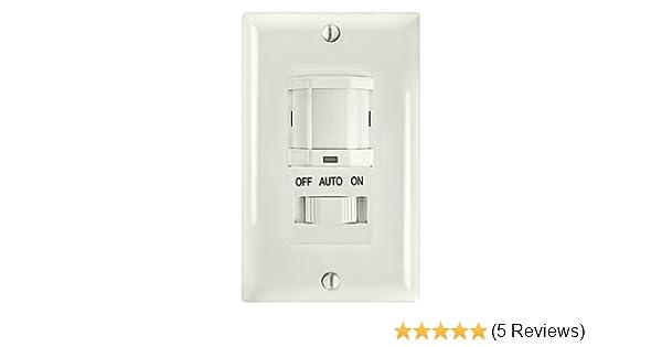 Amazon.com: Intermatic IOS-DSIF-WH Motion Sensor, PIR Electronic Occupancy Sensor Switch - White: Home Improvement