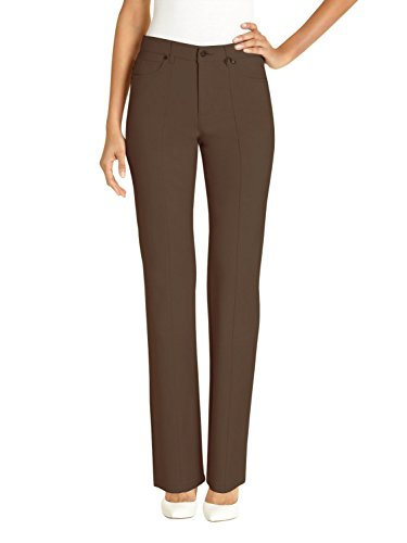URRebel Pants For Womens Simon Chang Straight Leg Microtwill Style 5302 Size 10 Brown by URREBEL