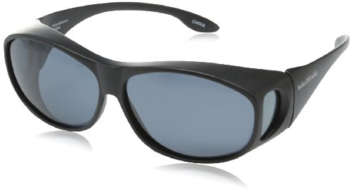 Solar Shield Eldorado Polarized Rectangular Sunglasses ,Black,51 - Polarized Sun Shield Sunglasses