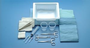 - 749 Tray Laceration With Web NH Lac Adson Iris Sterile Latex Ea Part No. 749 by- Busse Hospital Disposable